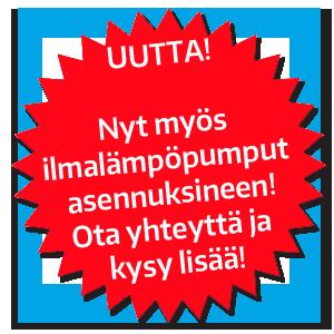 Nyt Porvoon LVI-Groupilta myös ilmalämpöpumput!